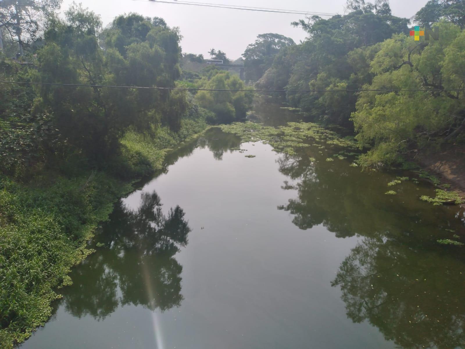 Estiaje provoca severas afectaciones al río Jamapa