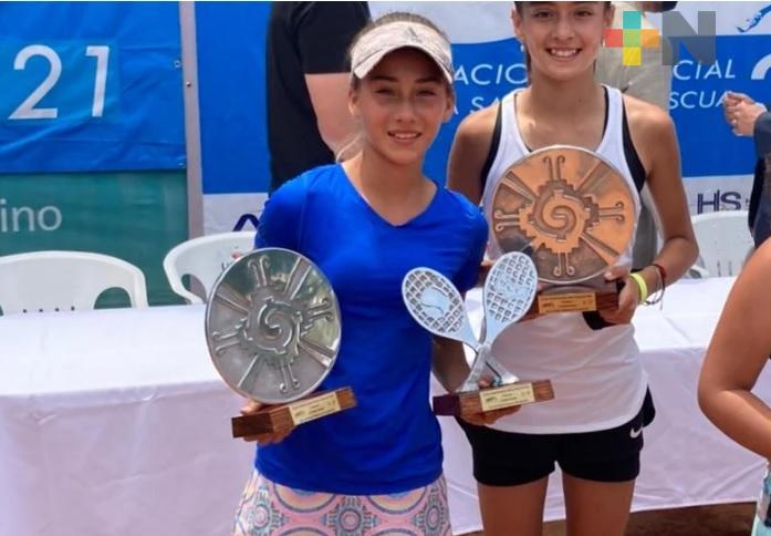 Romina Domínguez brilla en el tenis, a nivel nacional