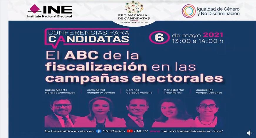 INE y Asociación Mexicana de Consejeras Estatales Electorales A.C., organizaron ciclo de conferencias para candidatas