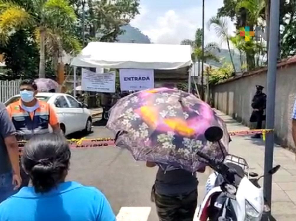Inició aplicación de segunda dosis de vacuna anticovid para adultos mayores de Ixtaczoquitlán