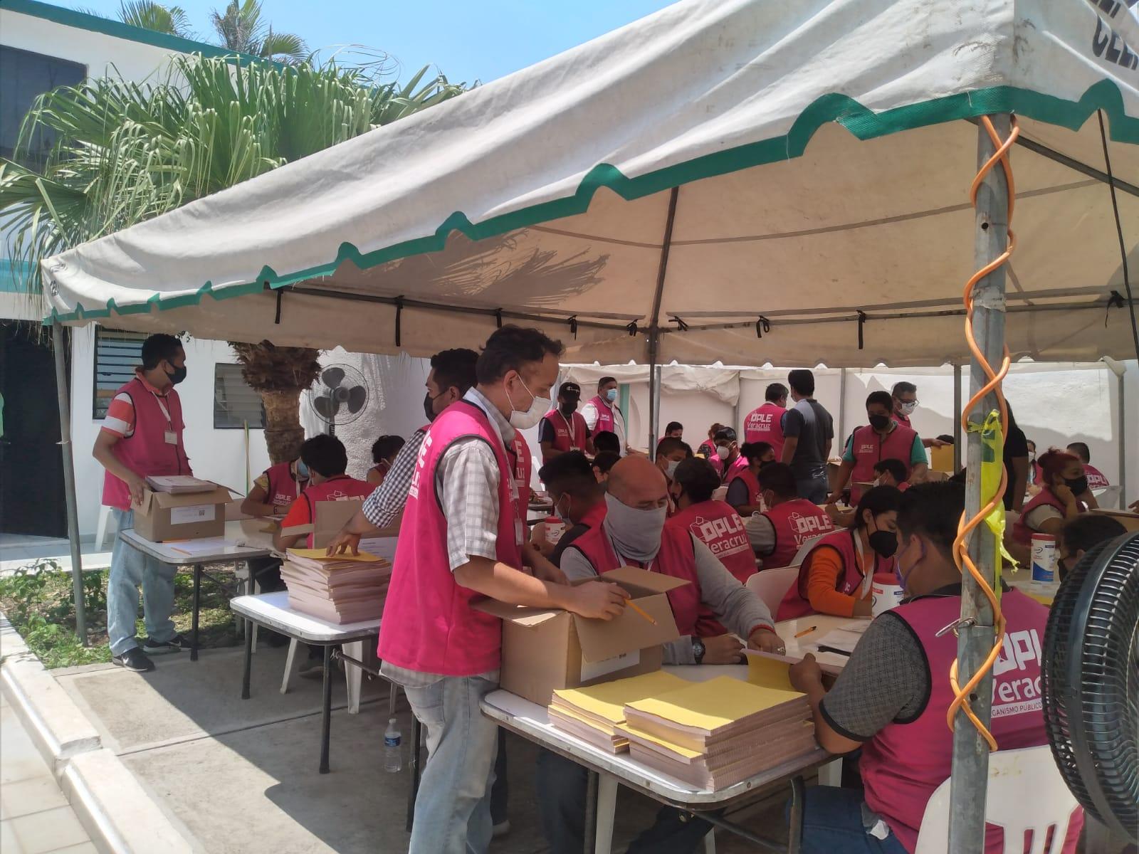 Inició arribo de material electoral a consejos del OPLE en Veracruz