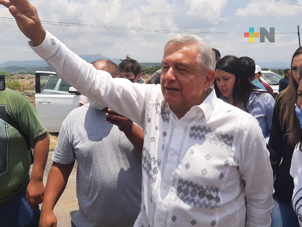 El 18 de junio, el presidente López Obrador regresará a Martínez de la Torre y San Rafael