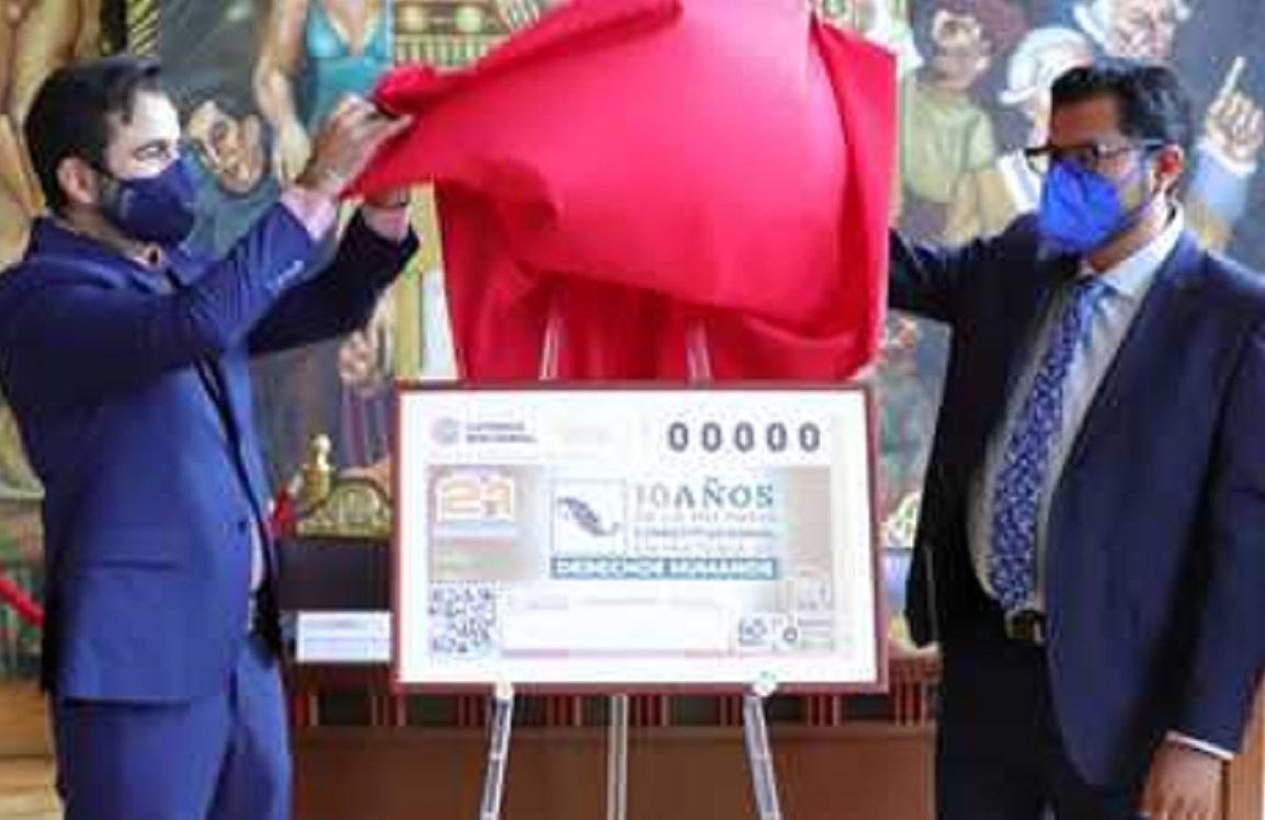 10 años de la reforma constitucional en materia de derechos humanos, son enmarcados en billete de lotería