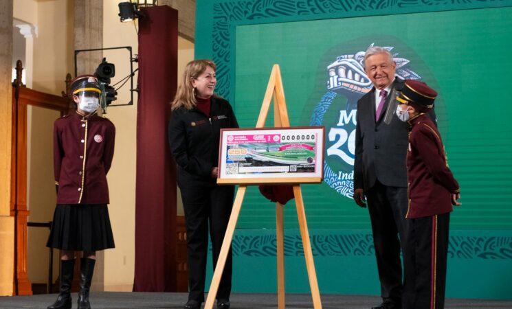 Presidente anuncia nuevo sorteo de la Lotería Nacional; por primera vez los premios serán en especie