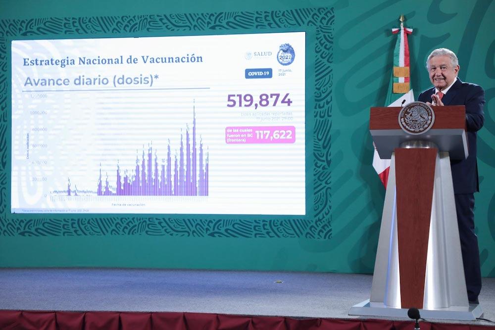 Baja California será primer estado en lograr vacunación universal contra COVID-19: AMLO