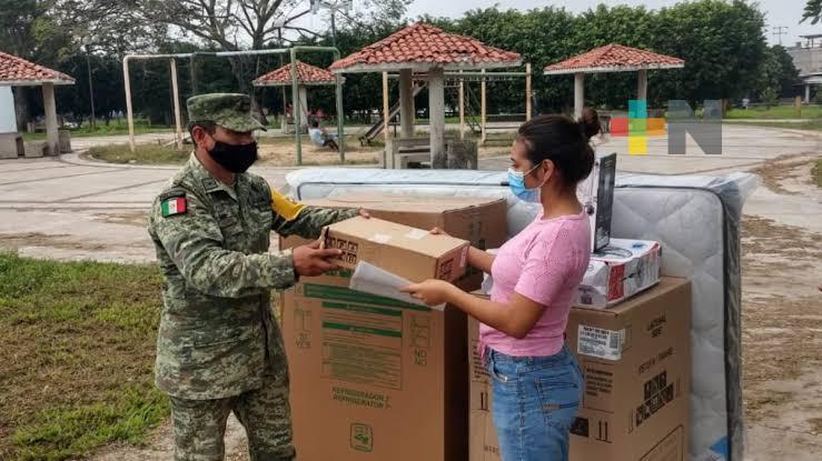 El Ejército Mexicano repetirá más de 10,000 paquetes de enseres domésticos en Tabasco