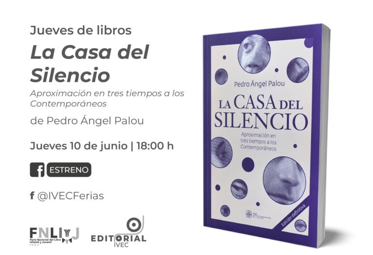 Presenta IVEC edición digital del libro La Casa del Silencio, de Pedro Ángel Palou