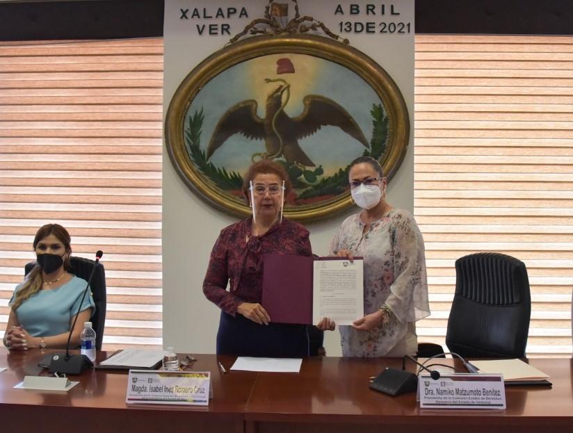Poder Judicial de Veracruz y CEDH firmaron convenio de colaboración