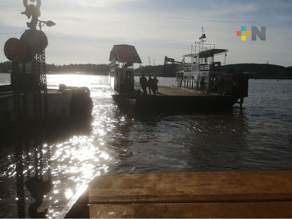 Servicio de transbordador de Coatzacoalcos, se puso nuevamente en operación