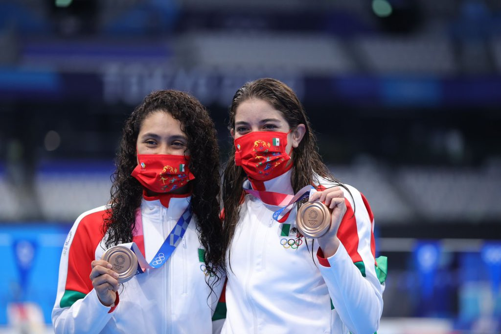 En salto sincronizado femenil, México logró su segunda medalla en Tokio 2020