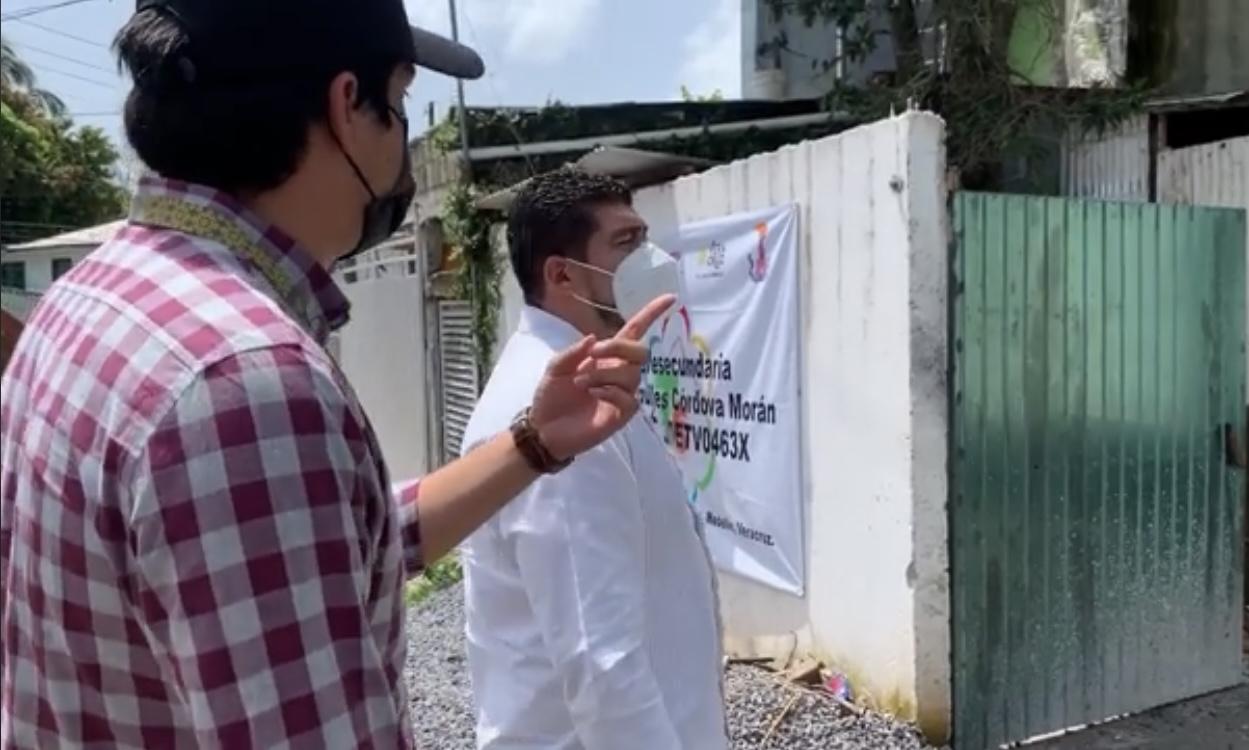Rehabilitarán telesecundaria en el municipio de Medellín de Bravo