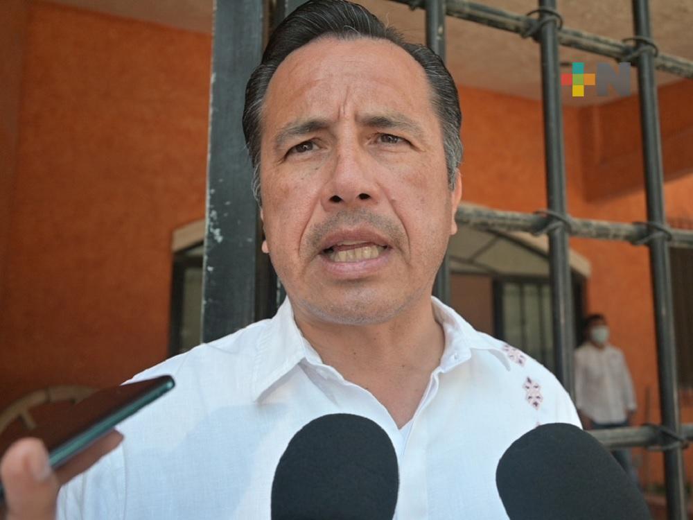 Reitera Cuitláhuac García respeto sobre reforma al Código Penal de Veracruz