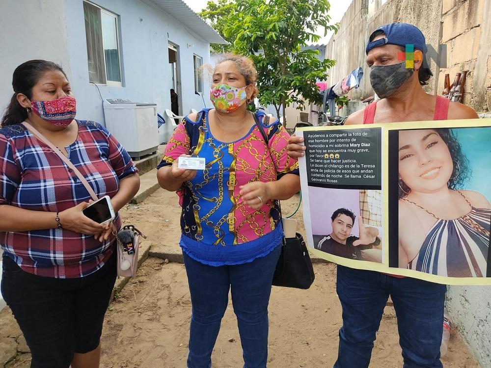 En Coatzacoalcos, mujer es golpeada con martillo por su pareja sentimental