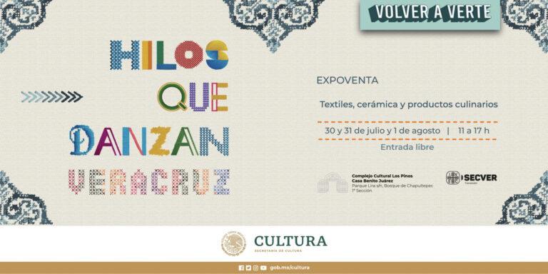"""Invita IVEC a visitar """"Hilos que danzan"""", expoventa artesanal en el Complejo Cultural Los Pinos"""