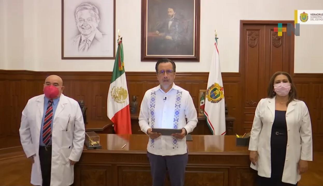 Anuncia el Gobernador nuevos municipios para vacunación de 30 a 39 años en Veracruz