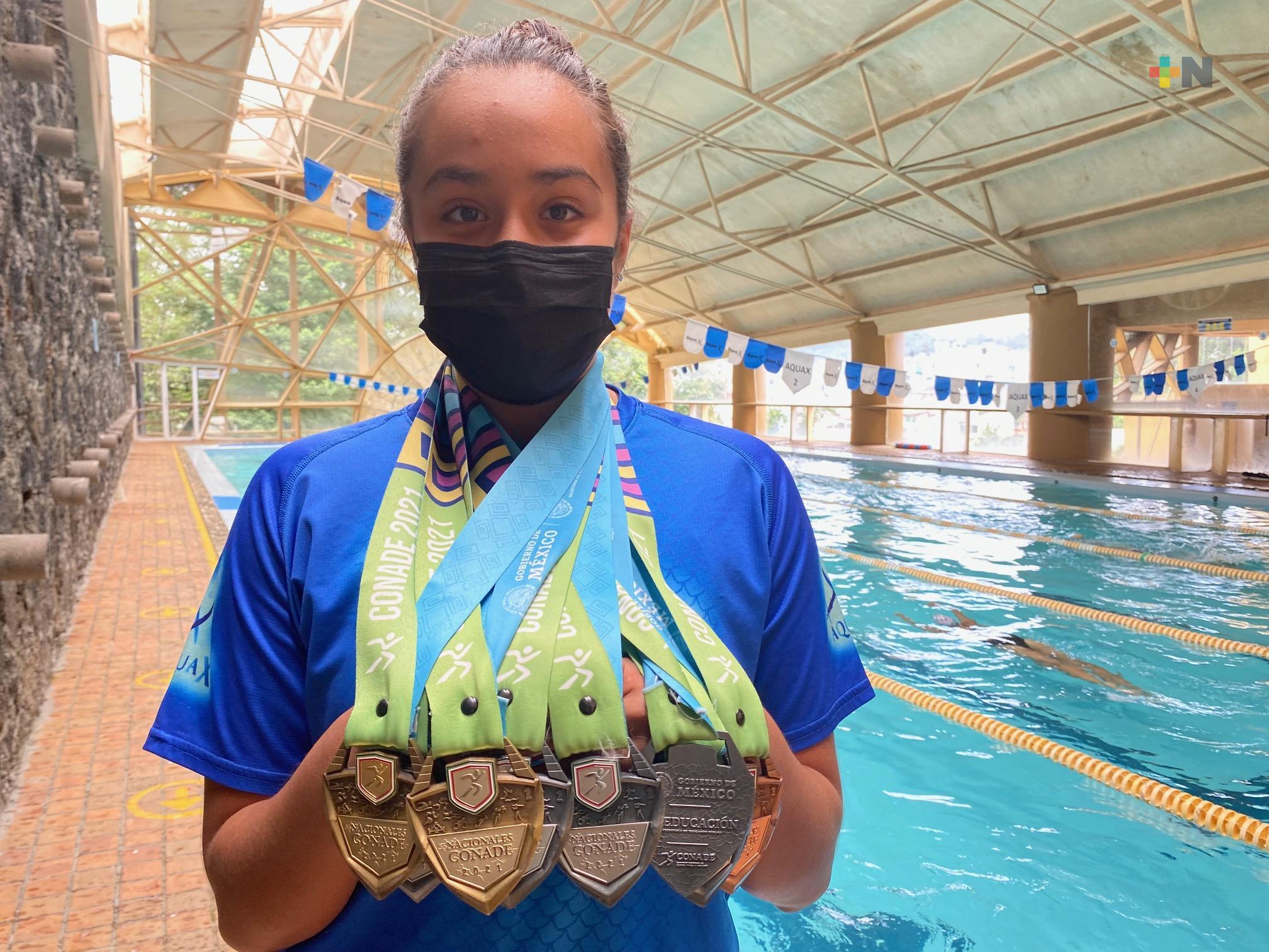 Feliz porque traje muchas medallas para Veracruz: Diana Gómez