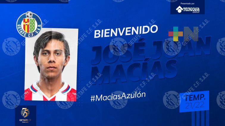 JJ Macías es oficialmente presentado por Getafe de España