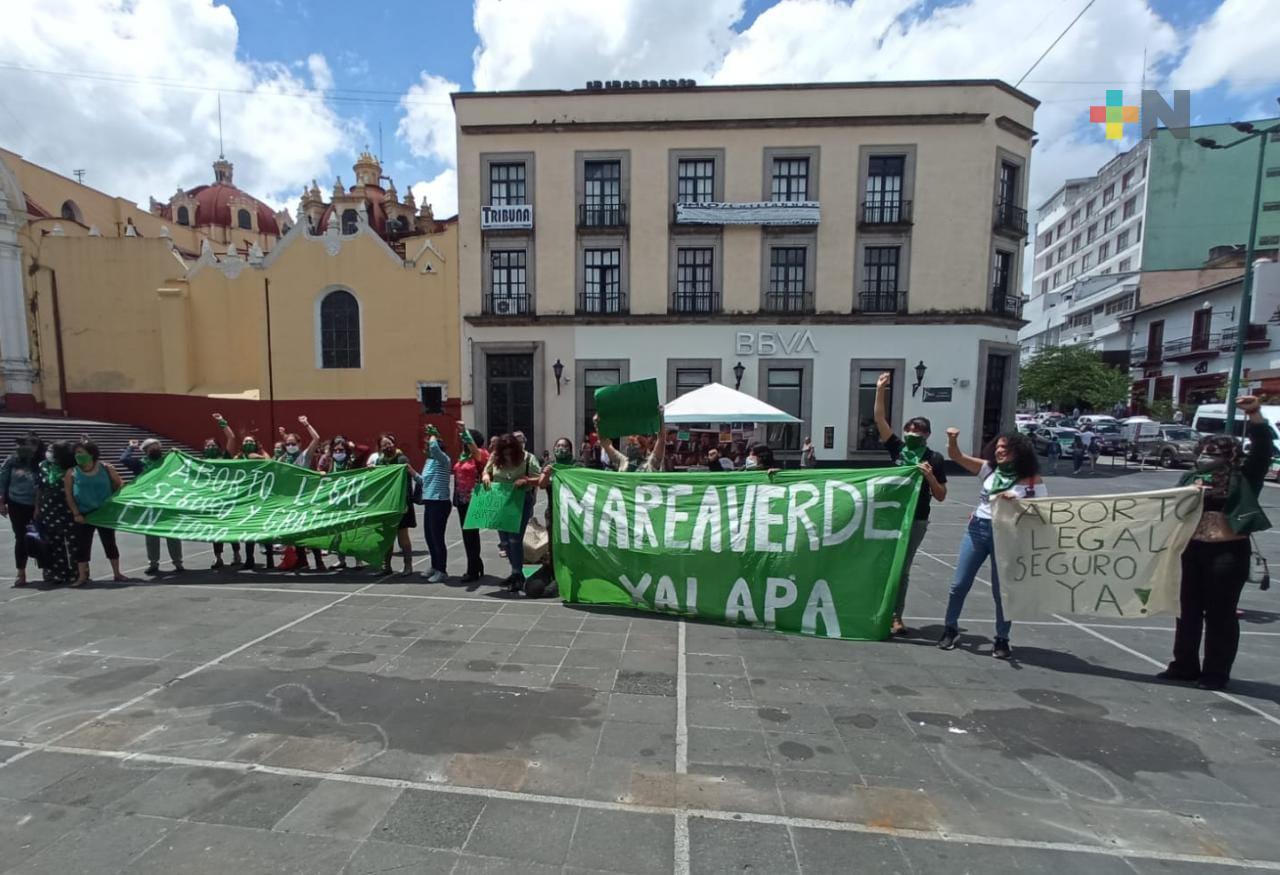 Marea Verde celebra despenalización del aborto en Veracruz