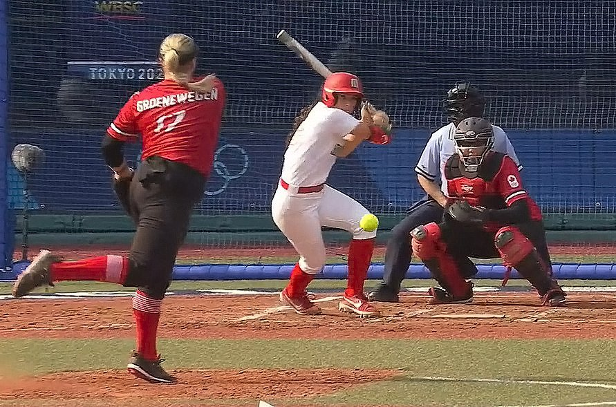 México cayó 4-0 ante Canadá en softbol, al iniciar actividades de los Juegos Olímpicos