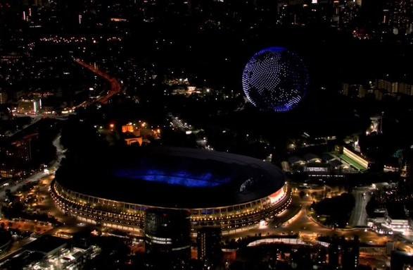 Más de mil drones volaron sobre la noche de Tokio durante la inauguración de los Juegos Olímpicos