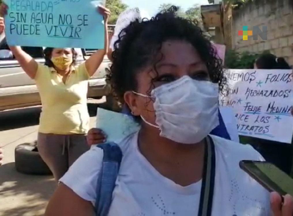 Vecinos de colonia de Xalapa, demandan servicio de agua potable