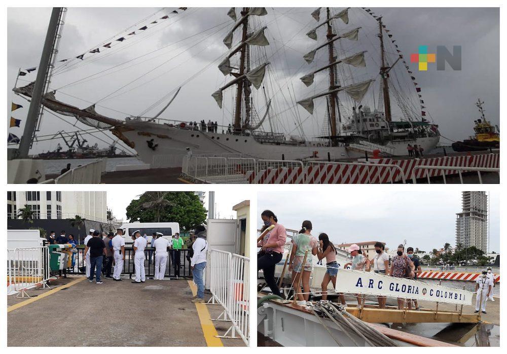 Permiten visitas al buque de la Armada de Colombia