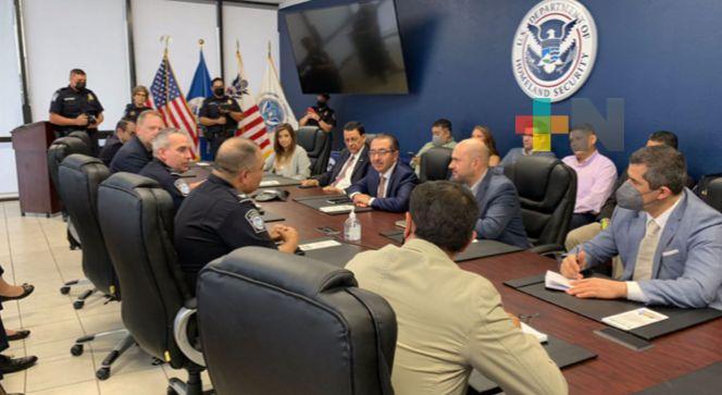 Autoridades de México y Estados Unidos sostuvieron reunión de trabajo contra el tráfico ilícito de armas