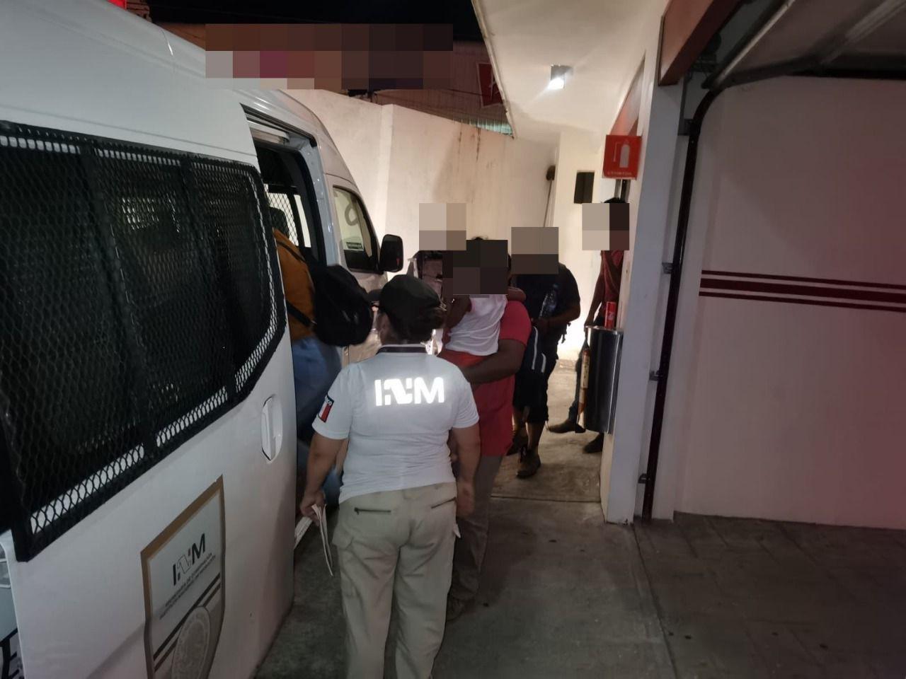 En el sur de Veracruz, SSP rescató 34 migrantes originarios de Honduras y El Salvador