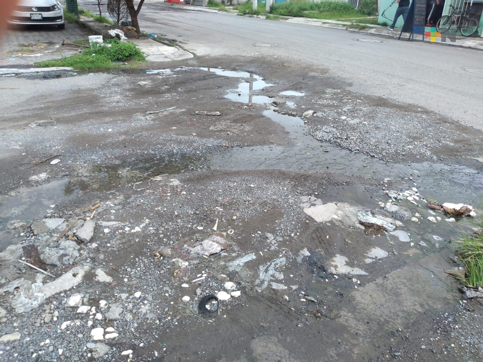 Baches en fraccionamiento Lomas 4 del municipio de Veracruz