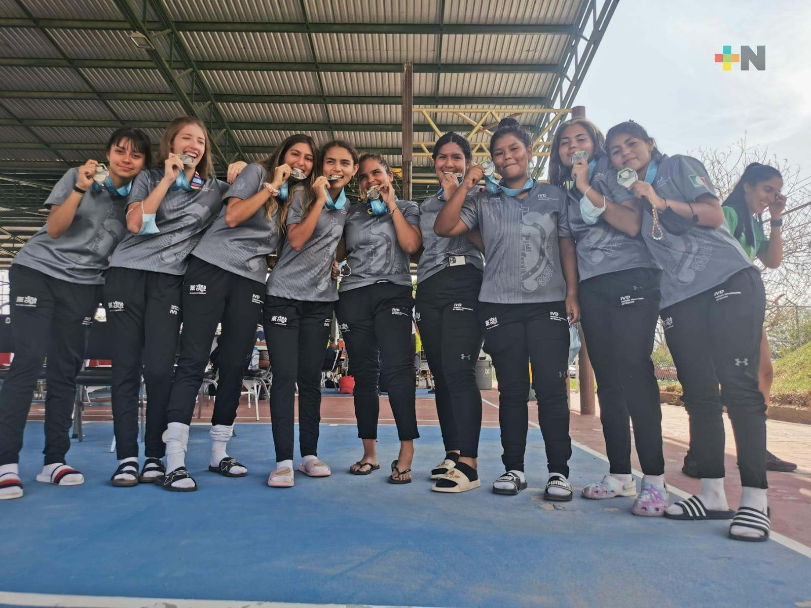 Rugby Femenil 7 de Veracruz ganó plata en Nacionales CONADE
