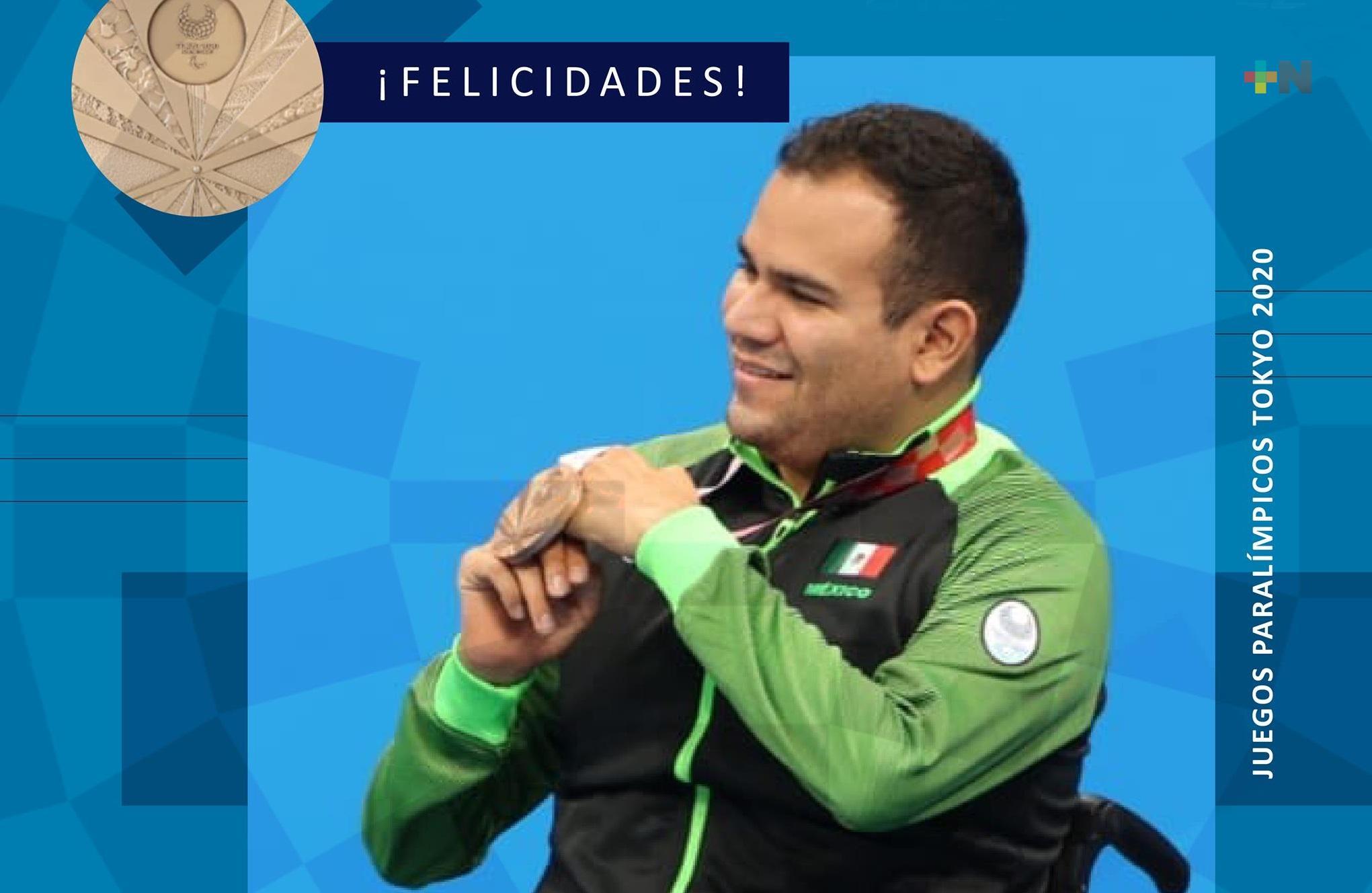 El veracruzano Diego López ganó bronce en Juegos Paralímpicos «Tokio 2020»