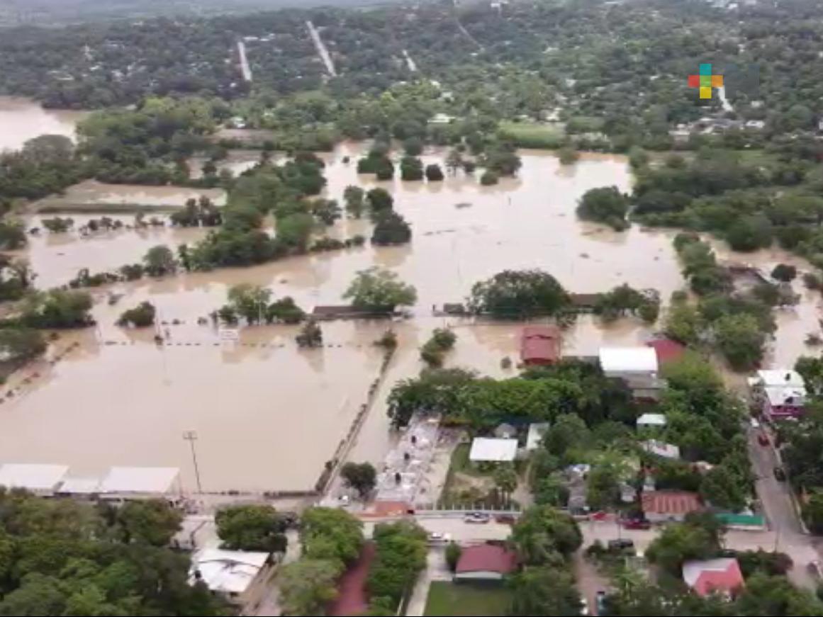 Hay 200 evacuados en albergues temporales en el municipio de Tempoal