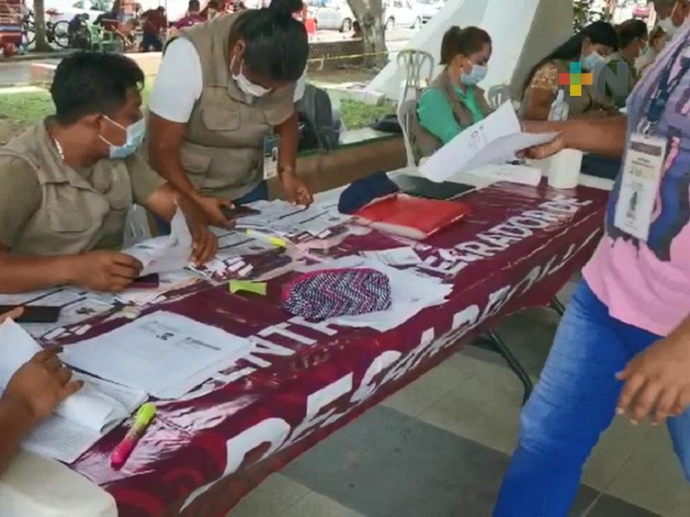 Bienestar programa recursos para jóvenes y damnificados en zona norte de Veracruz