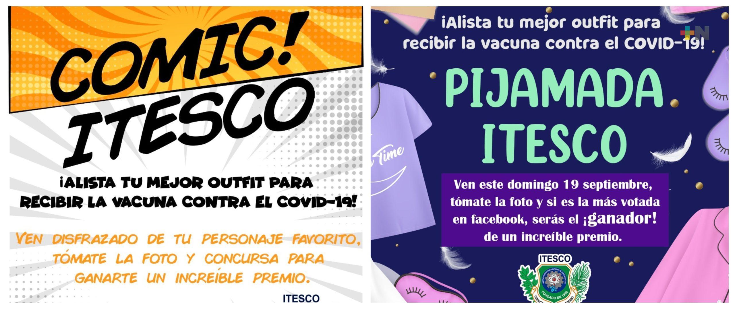 En Coatza, Itesco convocan a jóvenes acudir en pijama o disfraz de cómic a recibir vacuna