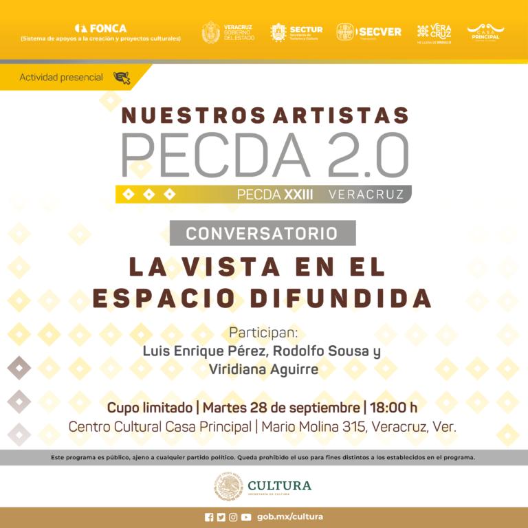 Centro Cultural Casa Principal reabre sus puertas con la exposición Nuestros artistas PECDA 2.0. La vista en el espacio difundida