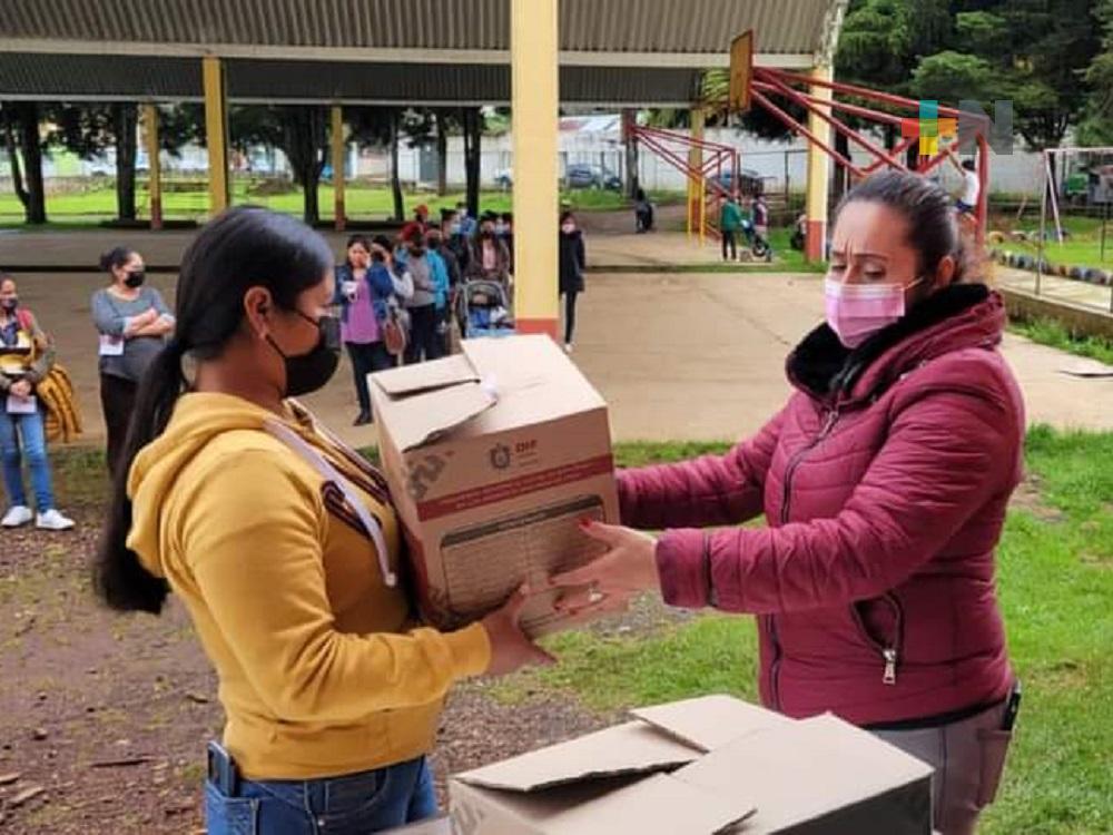DIF Estatal apoya a mujeres embarazadas y mamás con niños menores de 2 años en Huayacocotla