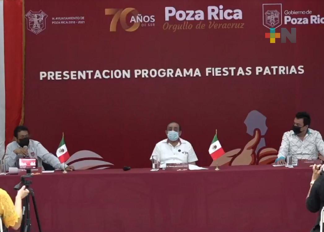 En Poza Rica, conmemoración de la Independencia de México será de manera virtual