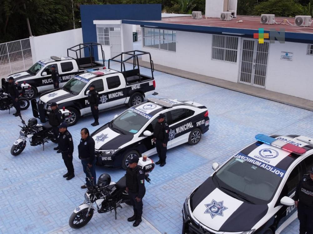 En Tantoyuca, se mantiene respaldo a la corporación de seguridad pública municipal