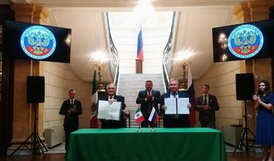 Firman México y Rusia Acuerdo de Cooperación Espacial para fines pacíficos