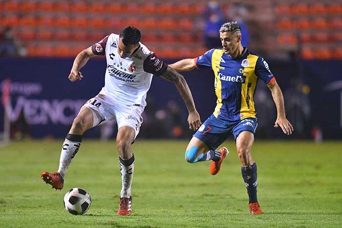 Con triplete de Germán Berterame, San Luis goleó a Tijuana