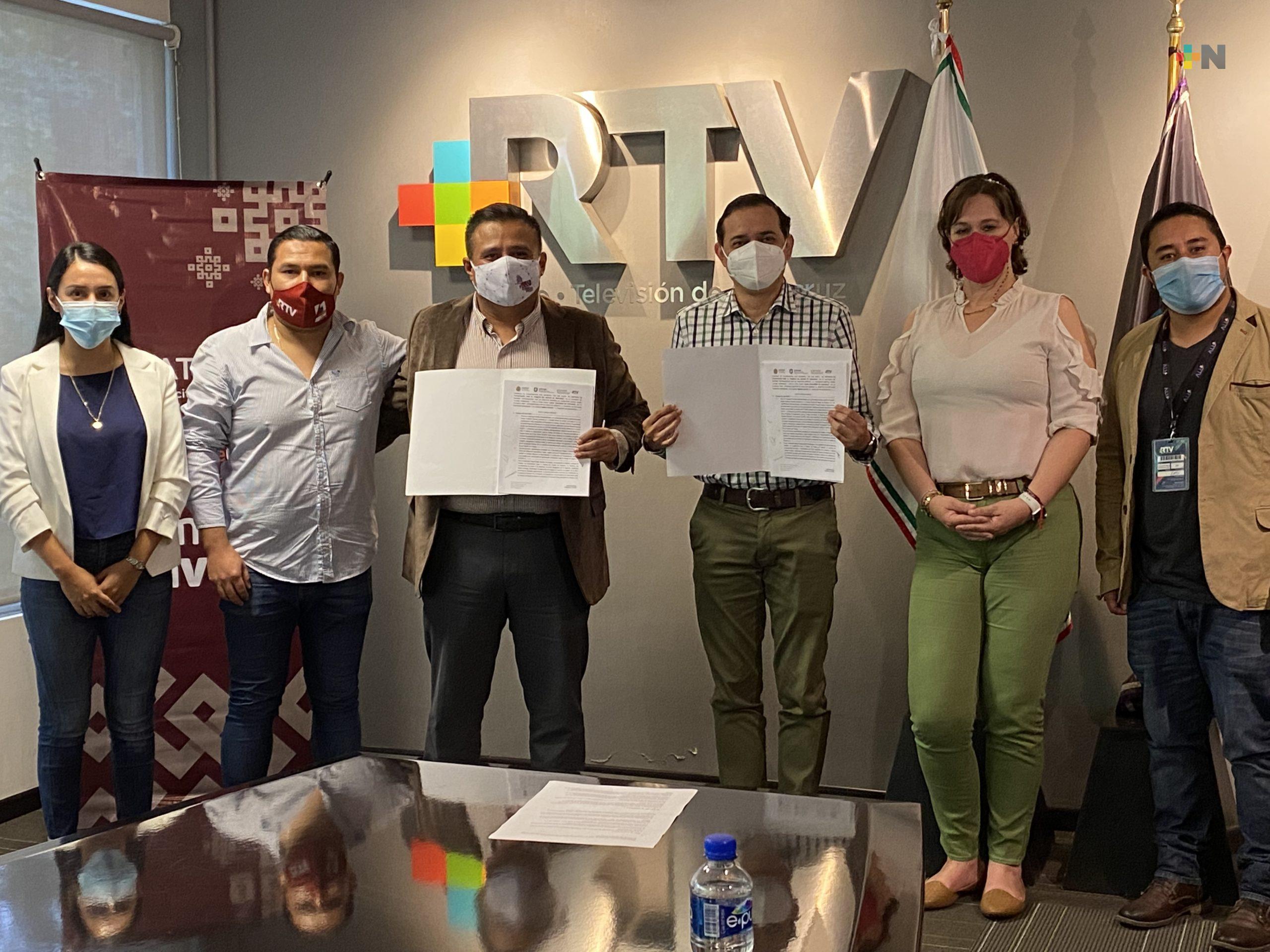 Renuevan convenio Radiotelevisión de Veracruz e ICATVER