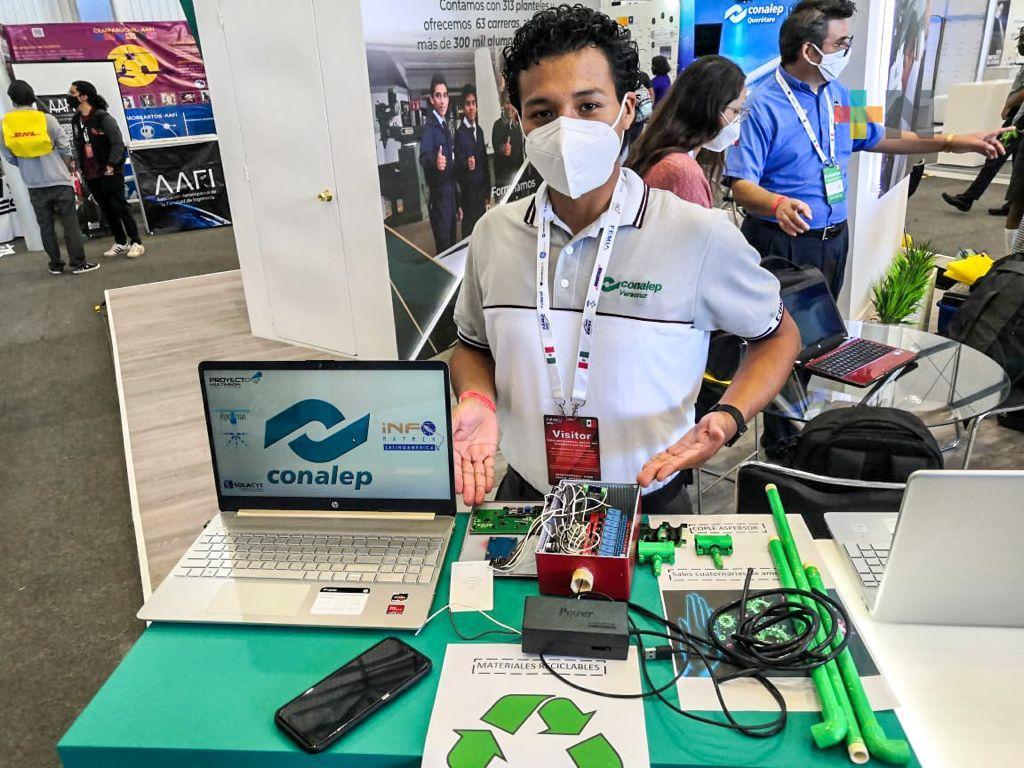Participa Conalep Veracruz en la Feria Aeroespacial México 2021