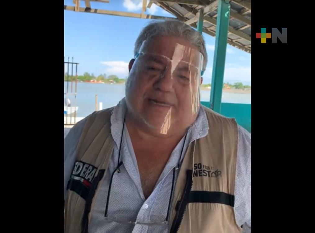Apoyó programa Bienpesca a pescadores de zona norte de Veracruz: Manuel Huerta