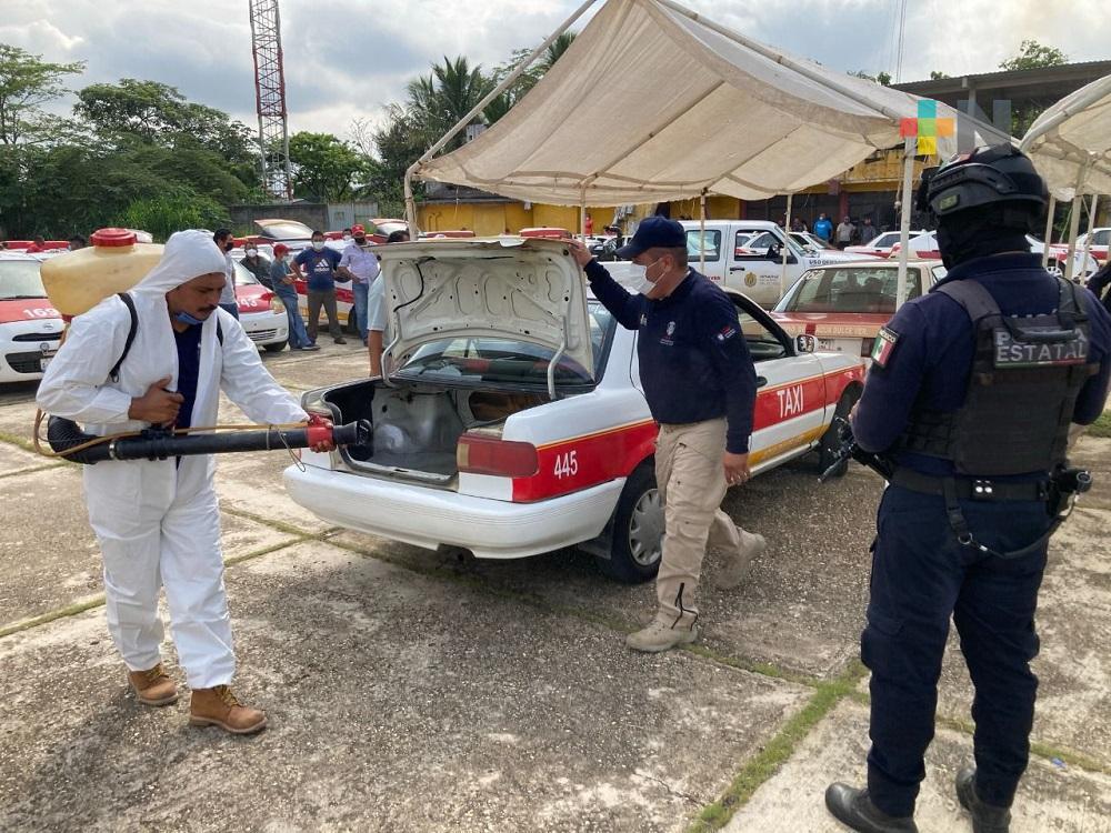 Más de seis mil unidades de transporte público fueron sanitizadas en el sur de Veracruz