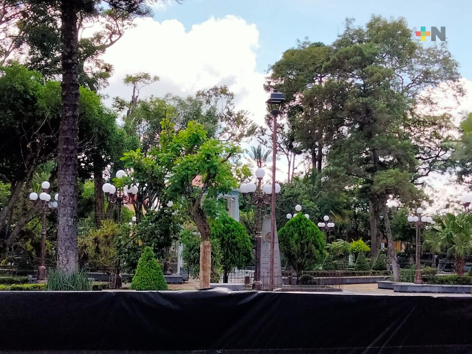 Por concluir rehabilitación del parque de Coatepec, apertura depender´a de semáforo epidemiológico