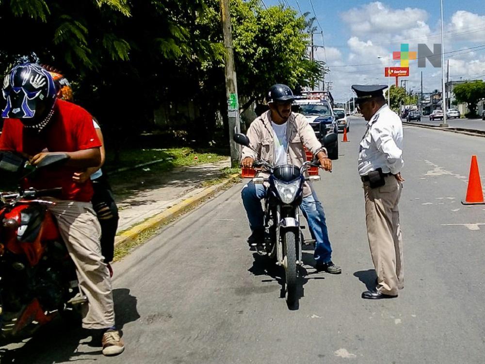 En Tuxpan, Delegación de Tránsito realizará guardias durante eventos patrios