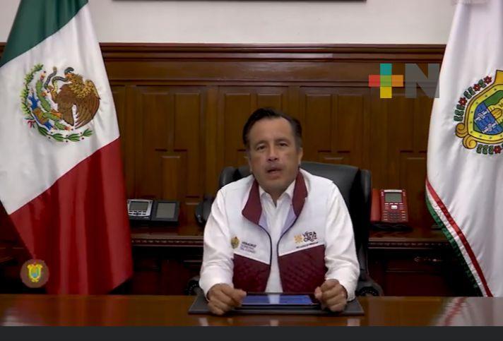 Se vacunará a grupos de 18 a 29 años de Boca del Río y Coatzacoalcos: Gobernador