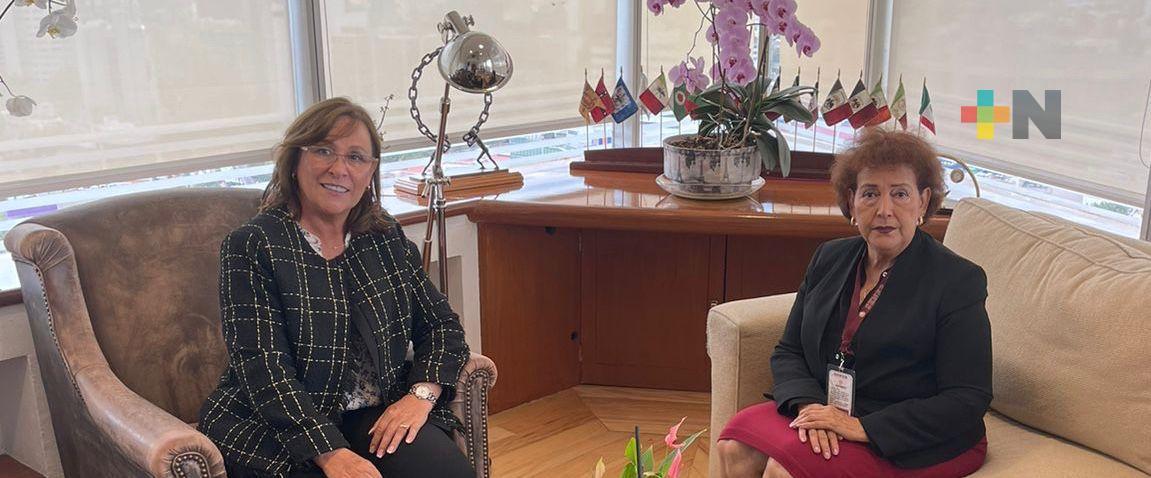 Se reúnen Rocío Nahle y la Magistrada Presidenta, Isabel Inés Romero