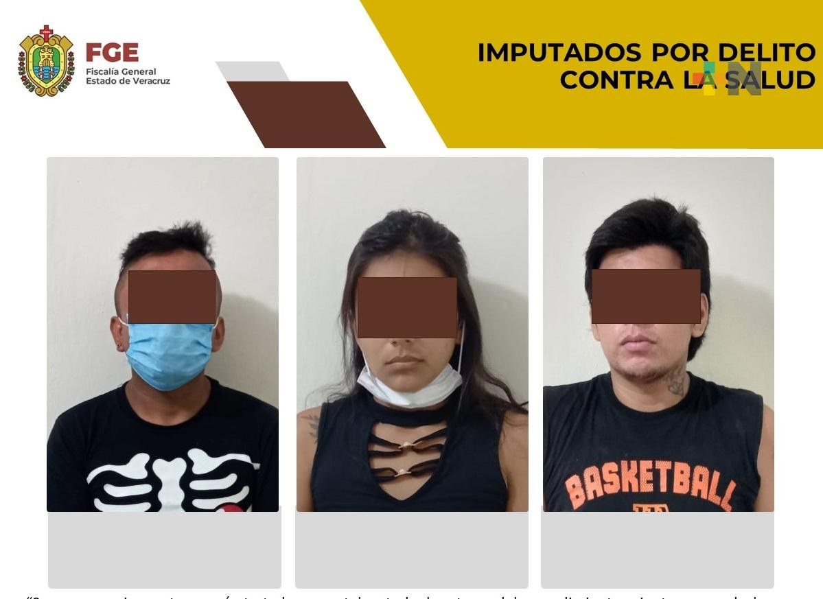 En Tuxpan, procede imputación de tres personas por delitos contra la salud