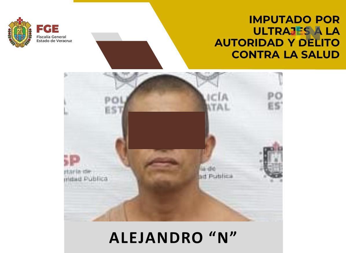 Legalizan detención de imputado por ultrajes a la autoridad y delito contra la salud